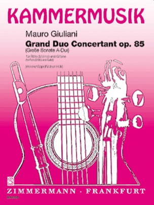 Mauro Giuliani - Grand Duo Concertant Op. 85 - Flöte Violine Guitarre - Partition - di-arezzo.fr