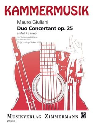 Mauro Giuliani - Duo Concertant Op. 25 En Mi Min. - Partition - di-arezzo.fr