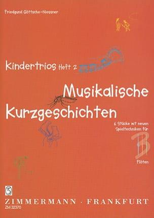 Kindertrios Heft 2 Friedgund Göttsche-Niessner Partition laflutedepan
