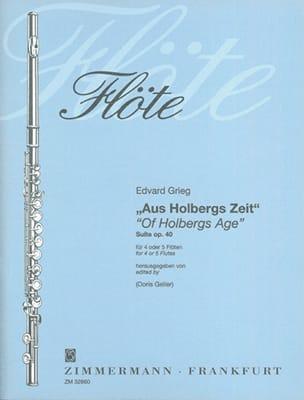 Edvard Grieg - Aus Holbergs Zeit - Suite Op. 40 - Partition - di-arezzo.fr