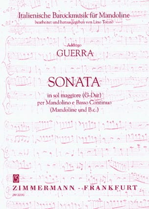 Addagio Guerra - Sonata in G-Dur - Mandolino e Bc - Sheet Music - di-arezzo.co.uk