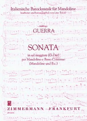 Addagio Guerra - Sonate in G-Dur - Mandolino und Bc - Noten - di-arezzo.de