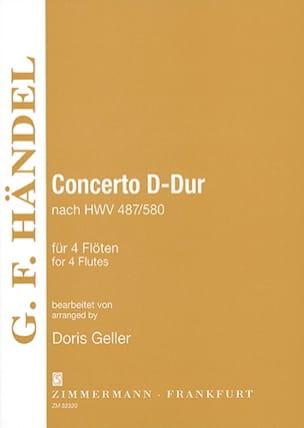 Georg Friedrich Haendel - Concerto D-Dur - Hwv.487/580 - Partition - di-arezzo.fr