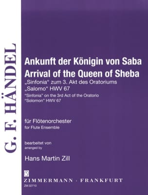 HAENDEL - Arrival of the Queen of Sheba - Flute quartet or ensemble - Partition - di-arezzo.fr