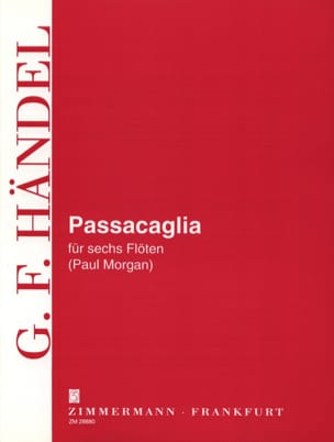 Georg Friedrich Haendel - Passacaglia - 6 Flöten - Sheet Music - di-arezzo.co.uk