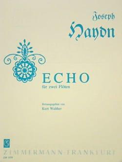 Echo – 2 Flöten - Joseph Haydn - Partition - laflutedepan.com