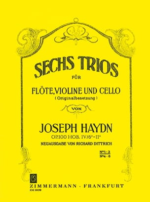 HAYDN - 6 Trios Op.100 Volume 1 - Sheet Music - di-arezzo.co.uk