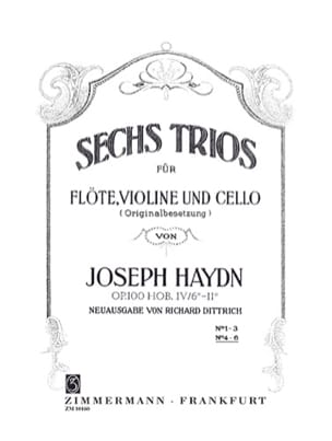 HAYDN - 6 Trios Op.100 Vol.2 - Sheet Music - di-arezzo.co.uk