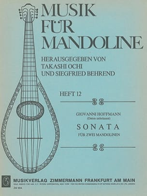 Giovanni Hoffmann - Sonata for 2 Mandolinen - Sheet Music - di-arezzo.co.uk