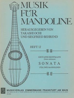 Sonata für 2 Mandolinen Giovanni Hoffmann Partition laflutedepan