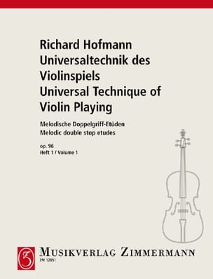 Richard Hofmann - Melodische Doppelgriff-Etüden Op.96 Volume 1 - Sheet Music - di-arezzo.co.uk
