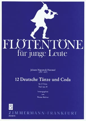 12 Deutsche Tänze und Coda - 2 Flöten - HUMMEL - laflutedepan.com