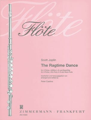 Scott Joplin - The Ragtime Dance – 4 Flöten Altflöte Bassflöte - Partitur + Stimmen - Partition - di-arezzo.fr