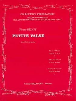 Petite valse - Pierre Bigot - Partition - laflutedepan.com