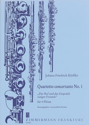 Johann Friedrich Klöffler - Quartetto Concertante n° 1 – 4 Flöten - Partition - di-arezzo.fr