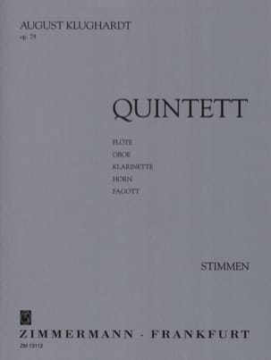 August Klughardt - Quintett op. 79 – Stimmen - Partition - di-arezzo.fr