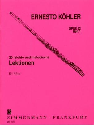 Ernesto KÖHLER - 20 Leichte and Melodische Lektionen Op 93 Vol 1 - Sheet Music - di-arezzo.com