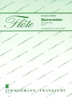 Ernesto KÖHLER - Blumenwalzer - 2 Flöten Klavier - Partition - di-arezzo.fr