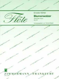 Ernesto KÖHLER - Blumenwalzer - 2 Flöten Klavier - Sheet Music - di-arezzo.co.uk