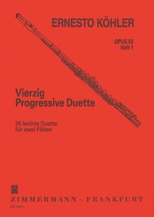 Ernesto KÖHLER - 40 Progressive Duette Op. 55 - Heft 1 - Partition - di-arezzo.fr