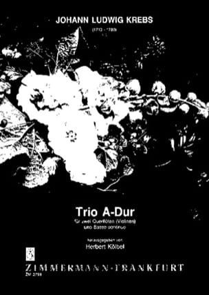 Trio A-Dur - 2 Flöten Violinen Bc Johann Ludwig Krebs laflutedepan