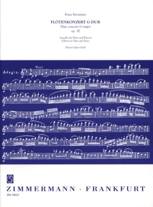 Franz Krommer - Flötenkonzert Nr. 1 En Sol Maj. Op. 30 - Partition - di-arezzo.fr