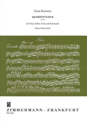 Franz Krommer - Quartett D-Dur op. 93 –Flöte Violine Viola Violoncello - Partitur + Stimmen - Partition - di-arezzo.fr