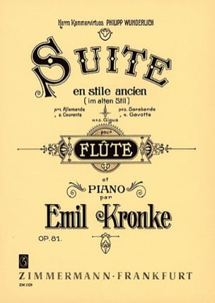 Emil Kronke - Suite im alten Stil op. 81 - Sheet Music - di-arezzo.co.uk