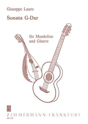 Giuseppe Lauro - Sonata G-Dur für Mandoline und Gitarre - Partition - di-arezzo.fr