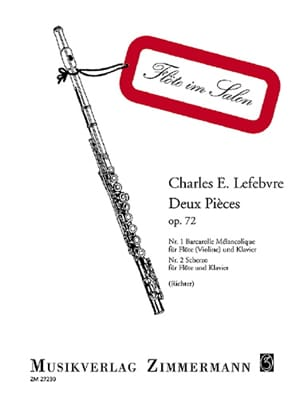 Charles Edouard Lefebvre - Deux pièces op. 72 - Partition - di-arezzo.fr
