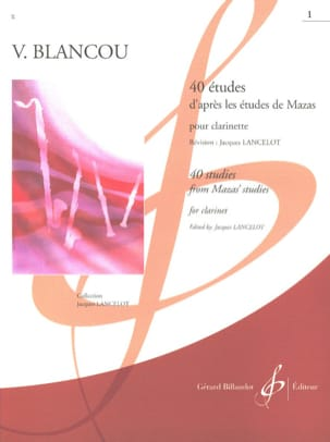 V. Blancou - 40 Studies after Mazas Vol 1 - Clarinet - Sheet Music - di-arezzo.co.uk