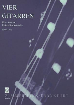 Vier Gitarren - Partition - Guitare - laflutedepan.com