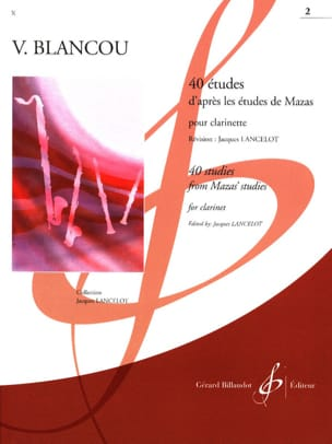 V. Blancou - 40 Studies after Mazas - Volume 2 - Clarinet - Sheet Music - di-arezzo.com