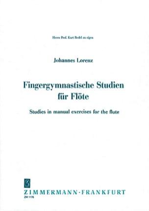 Johannes Lorenz - Fingergymnastische Studien Für Flöte - Sheet Music - di-arezzo.com