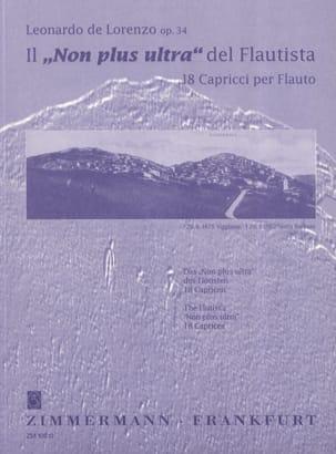 Leonardo de Lorenzo - No more ultra del Flautista op. 34 - Sheet Music - di-arezzo.com