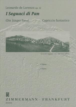 Leonardo de Lorenzo - I Seguaci di Pan op. 32 – 4 Flauti - Partition - di-arezzo.fr