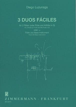 3 Duos Faciles - 2 Flöten Flöte u. Bass-Instrument - laflutedepan.com