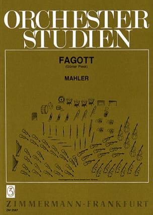 Gustav Mahler - Orchesterstudien – Fagott - Partition - di-arezzo.fr