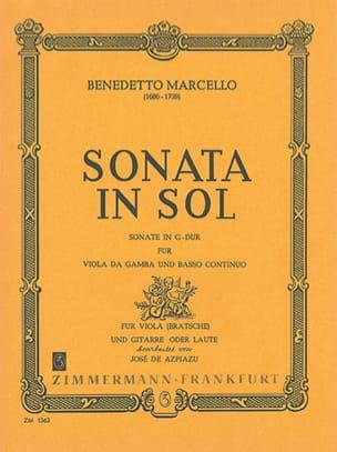 Benedetto Marcello - Sonata in Sol für Viola und Gitarre - Partition - di-arezzo.fr