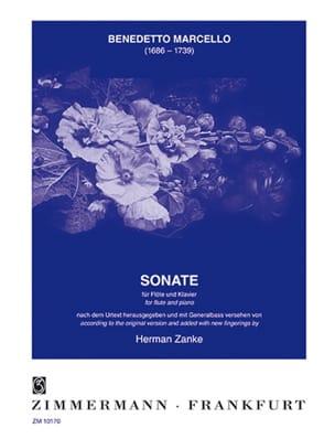Sonate G-Dur - Flöte Klavier Benedetto Marcello Partition laflutedepan
