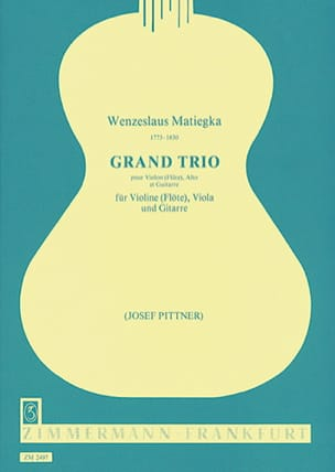 Wenzeslaus Matiegka - Grand Trio - Stimmen - Noten - di-arezzo.de
