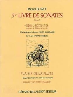Sonates Op.3 N°1 et 2 - Volume 1 Michel Blavet Partition laflutedepan