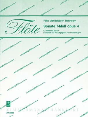 Bartholdy Felix Mendelssohn - Sonate F-Moll Op. 4 - Partition - di-arezzo.fr