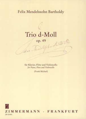 Bartholdy Felix Mendelssohn - Trio d-moll op. 49 – Klavier Flöte Cello - Partition - di-arezzo.fr