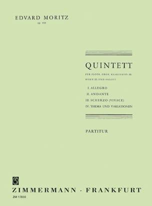 Eduard Moritz - Quintette, Opus 169 - Partition - di-arezzo.fr