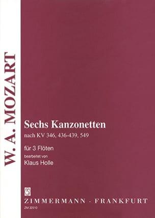 MOZART - 6 Kanzonetten - 3 Flöten - Partition - di-arezzo.fr