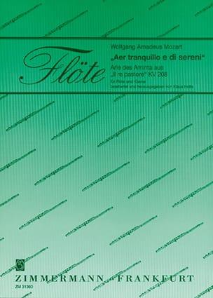 Aer tranquilo e di sereni - Flöte Klavier - MOZART - laflutedepan.com