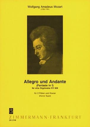 Allegro Und Andante, Kv 608 - 2 Flûtes-Piano MOZART laflutedepan