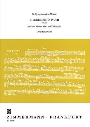 Divertimento D-Dur KV 334 – Flöte Violine Viola Violonello - Partitur + Stimmen - laflutedepan.com