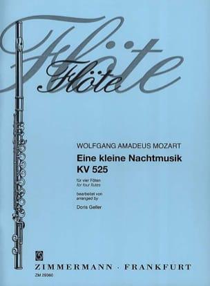 Wolfgang Amadeus Mozart - Eine kleine Nachtmusik KV 525 – 4 Flöten - Partition - di-arezzo.fr